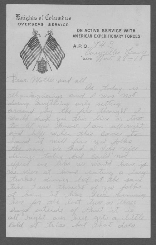 Paul Preddy, World War I soldier - Page