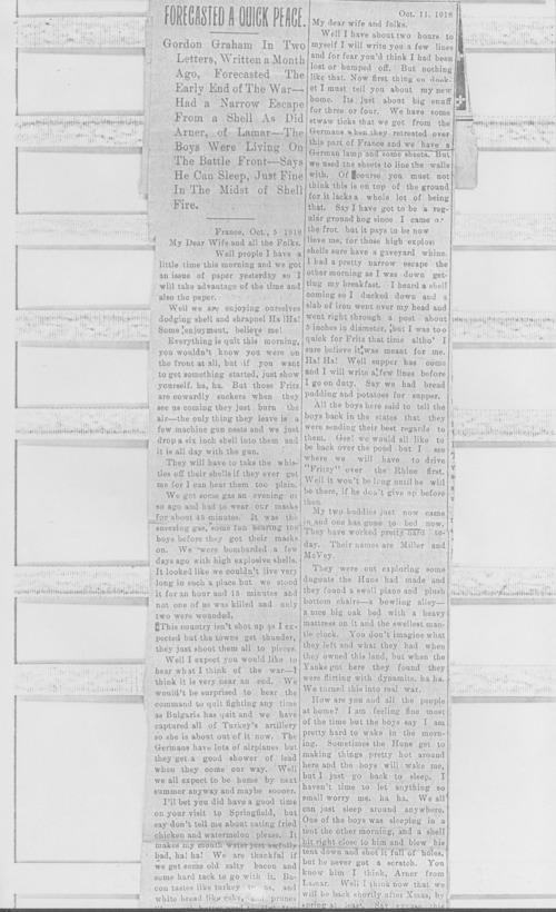 Andrew Gordon Graham, World War I soldier - Page
