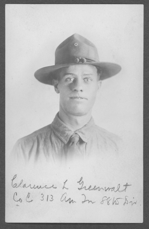 Clarence L. Greenwalt, World War I soldier - Page