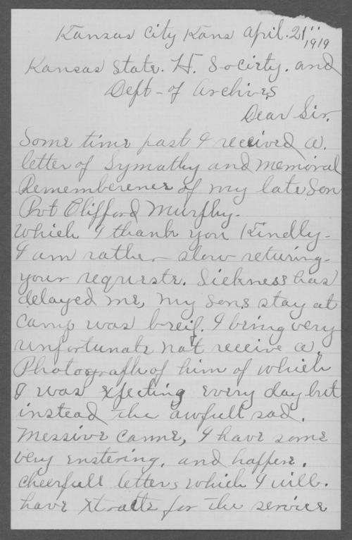 Clifford Murphy, World War I soldier - Page