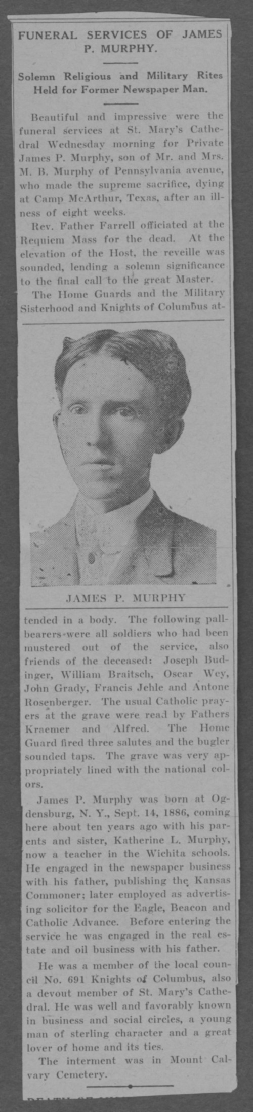 James P. Murphy, World War I soldier - Page