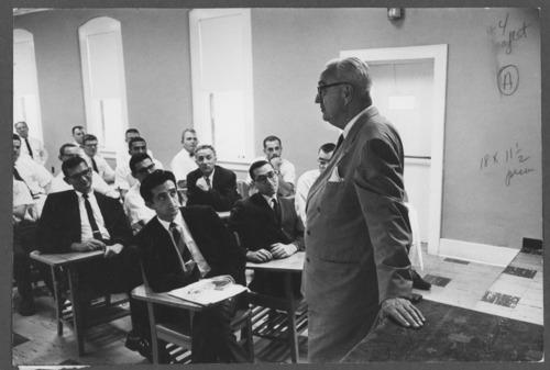Karl Menninger, M.D., lecturing - Page