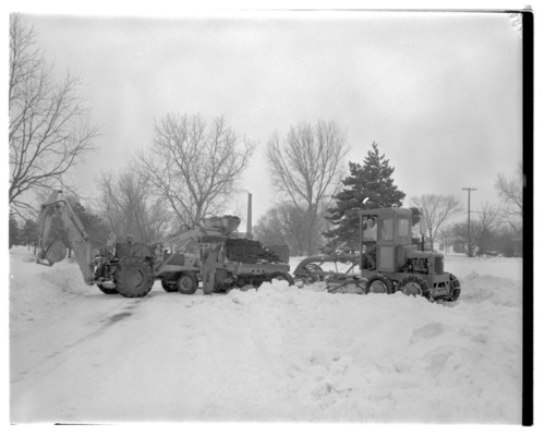 Clearing snow near the Service Building at Menninger Clinic in Topeka, Kansas - Page