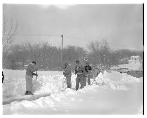 Clearing snow at Menninger Clinic in Topeka, Kansas - Page