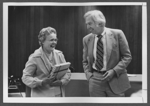 Roy Menninger, M.D. and Lee Patterson at the Menninger Clinic, Topeka, Kansas - Page