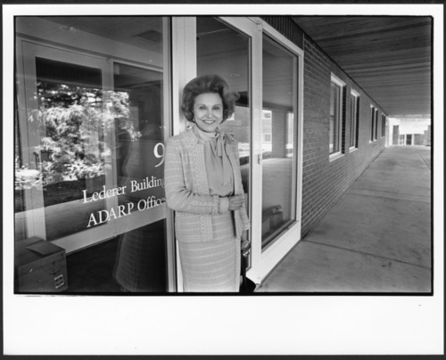 Eppie Lederer (Ann Landers) at the Menninger Foundation West Campus dedication, Topeka, Kansas - Page