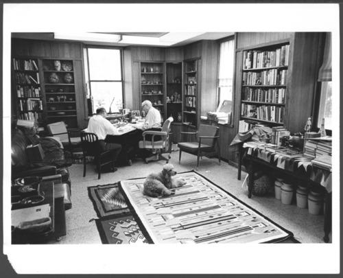Karl Menninger, M.D. and Phillip Holzman, M.D. at the Menninger Clinic, Topeka, Kansas - Page