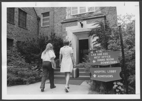 Entrance to Menninger Clinic, Topeka, Kansas - Page