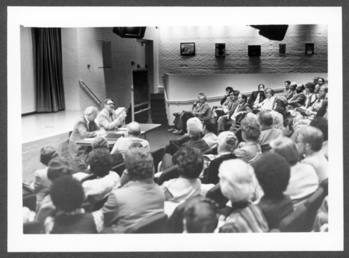 W. Walter Menninger, M.D. at an all-staff meeting, Topeka, Kansas - Page