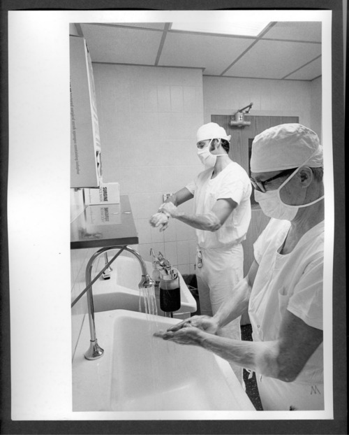 Scrubbing for surgery, Menninger Clinic in Topeka, Kansas - Page