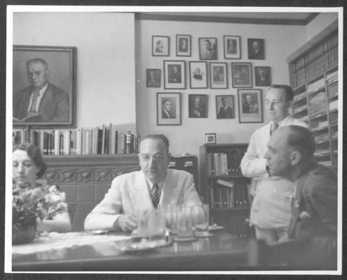 A group having tea at the Menninger Clinic, Topeka, Kansas - Page
