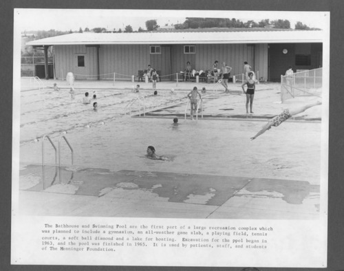 Menninger Clinic bathhouse and swimming pool in Topeka, Kansas - Page
