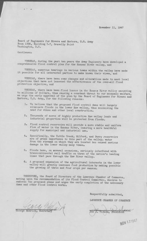Joe J. Wilson and George Hedrick to Representative Albert Cole - Page