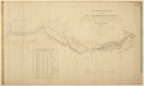 Topographic map of the road from Missouri to Oregon - Page
