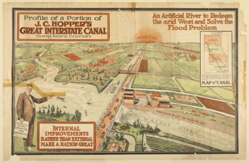 Profile of a portion of J. C. Hopper's Great Interstate Canal showing natural reservoirs - Page