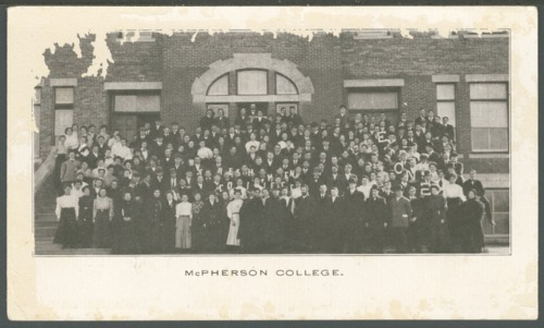 Postcard of McPherson College, McPherson, Kansas