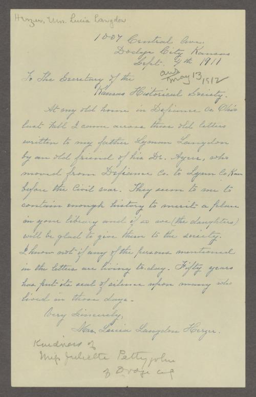 Samuel Ayers to Lyman Langdon - Page