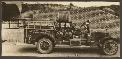 Fire truck of the Security Benefit Association in Topeka, Kansas - Page