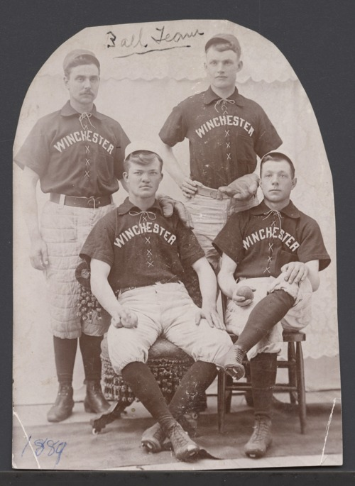 Baseball team members at Winchester, Kansas - Page