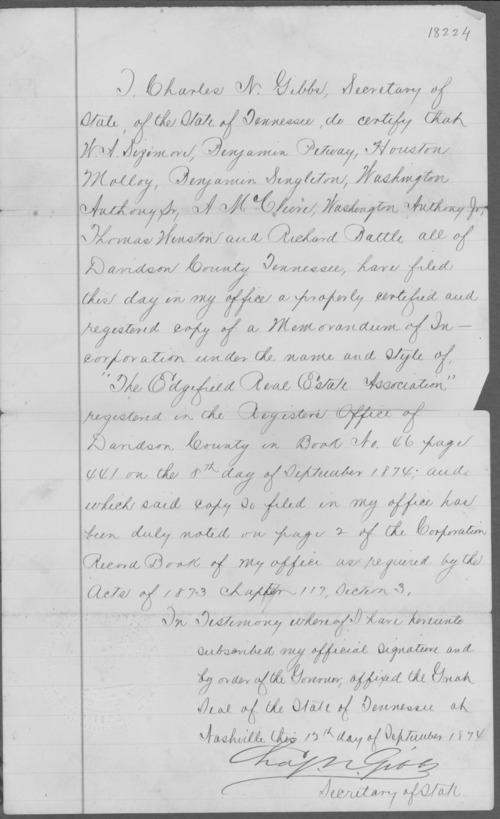 Material relating to Benjamin Singleton - Page