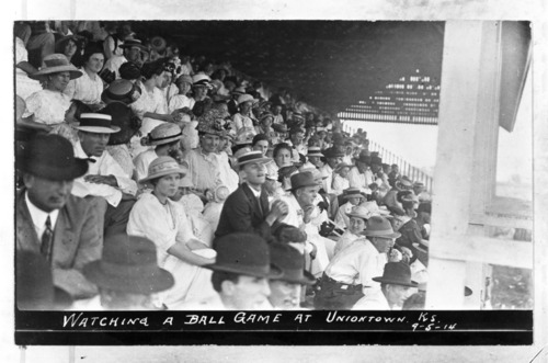 Spectators at a ball game in Uniontown, Kansas - Page