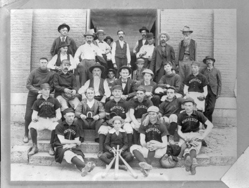 Baseball team and others at Winchester, Kansas - Page