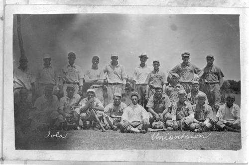 Baseball teams from Iola and Uniontown, Kansas - Page