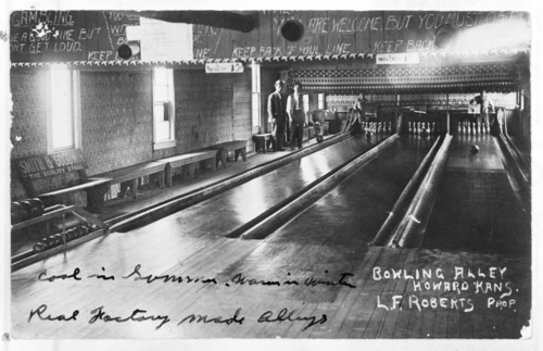 Bowling alley, Howard, Kansas - Page
