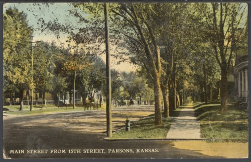 Main Street from 15th Street in Parsons, Kansas - Page