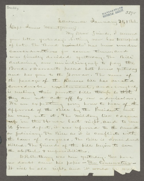 James Montgomery correspondence - Page