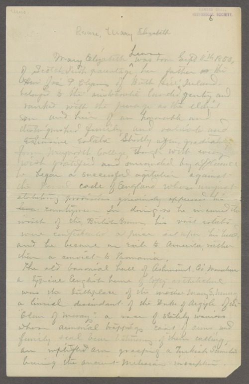 Mary Elizabeth Lease biographical sketch - Page