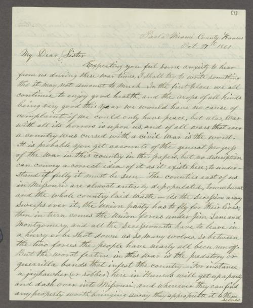 Allen T. Ward correspondence - Page