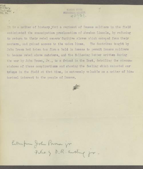John Brown Jr. correspondence - Page