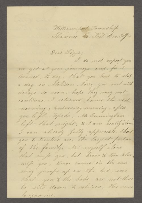 Andrew Jackson Huntoon correspondence - Page