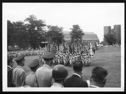 Army troops marching at Fort Larned, Kansas - Page