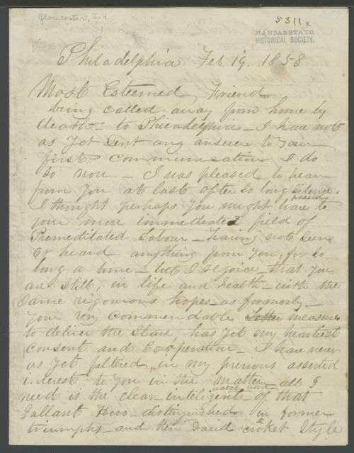 James N. Gloucester to John Brown - Page