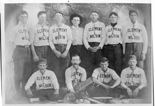 Clement Wilson baseball team, Tribune, Kansas - Page