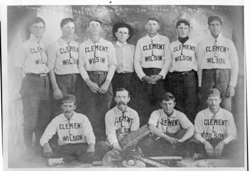 Clement Wilson baseball team, Tribune, Kansas - Page