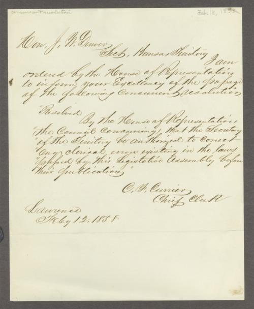 Legislative assembly resolutions, 1858-1861 - Page