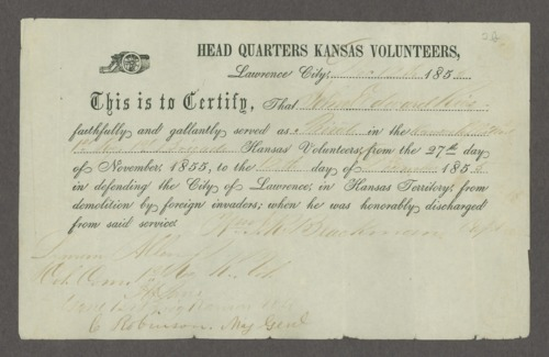 Draft of the Wakarusa treaty - Page