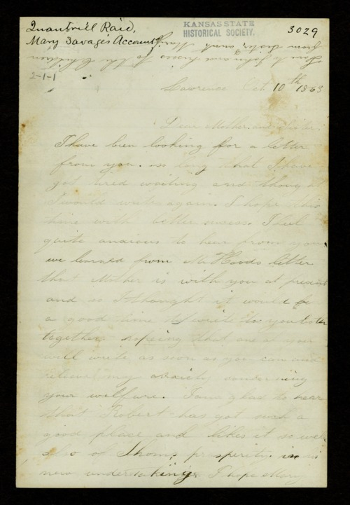 Mary Savage correspondence - Page