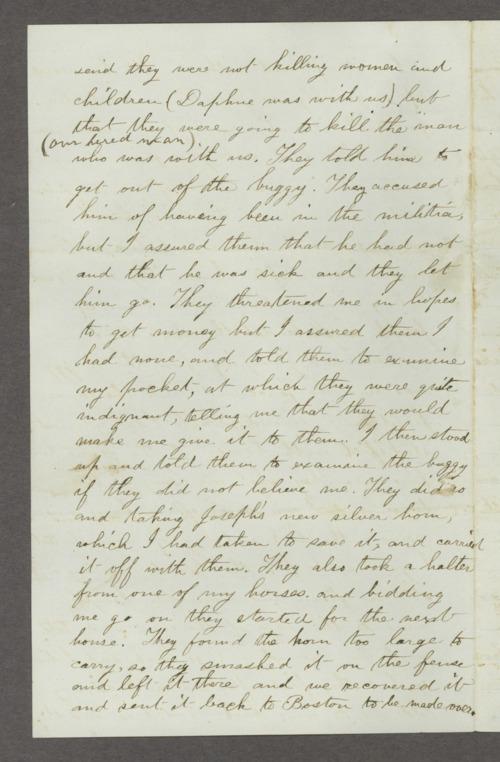 Mary Savage correspondence - Page