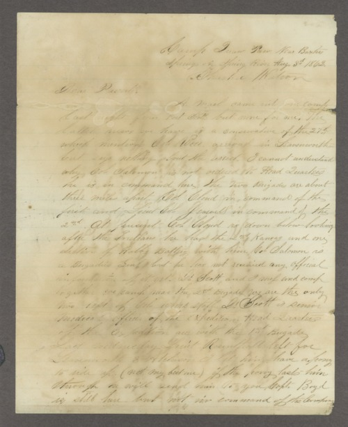Cyrus Leland letters - Page