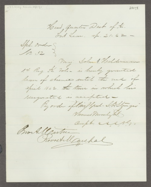 John Adams Halderman correspondence - Page