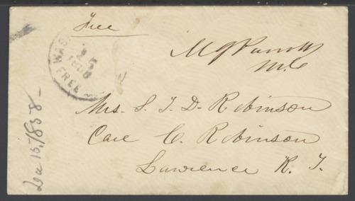 Envelope addressed to Sara Tappan Doolittle Robinson - Page