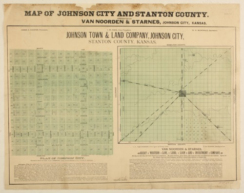 Map of Johnson City and Stanton County, Kansas - Page