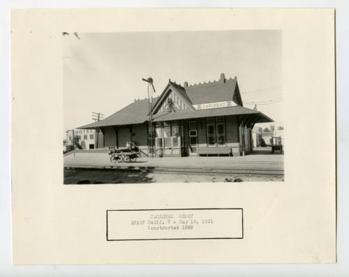 Atchison, Topeka and Santa Fe Railway Company depot, Carlsbad, California - Page