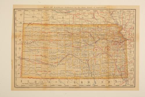 Map of Kansas published by the State Board of Agriculture - Page
