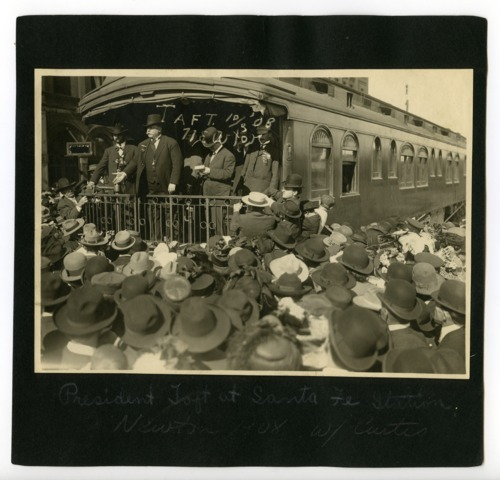 William Howard Taft campaigning for President, Newton, Kansas - Page