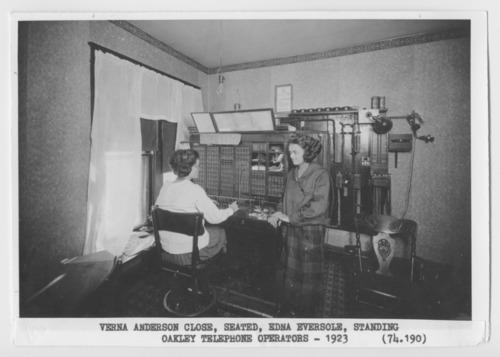 Telephone switchboard, Oakley, Kansas - Page